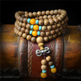 108 beads Wood Prayer  Bracelet