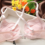 Women Lace Push-Up Front Buckle Underwear