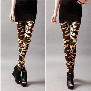 Graffiti Style Slim Camouflage Stretch  Army Tights Pants - youandbeautifulpeople