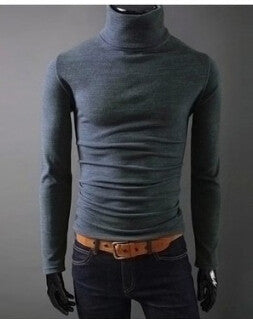 Turtleneck Pullover Thermal Sweater