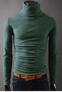 Turtleneck Pullover Thermal Sweater - youandbeautifulpeople