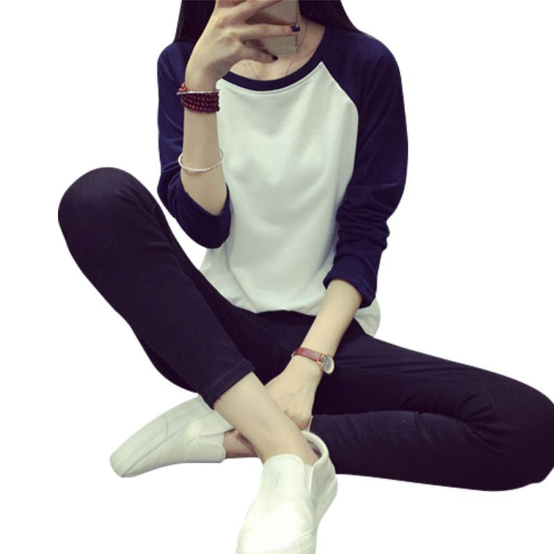 Women Loose Long Sleeve Casual Sweatshirt Pullover - youandbeautifulpeople