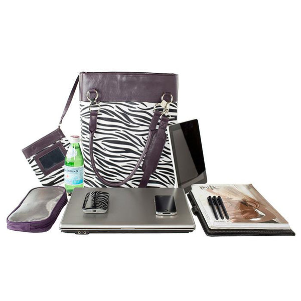 Bonita Classica Tote Zebra | Women in Business Laptop Bags | Branford, Connecticut