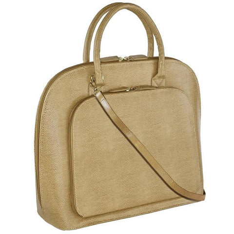Park Avenue Notebook Case Tan | Women in Business Laptop Bags | Branford, Connecticut