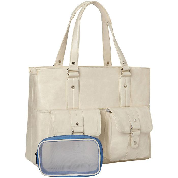 Nairobi Tote Bone | Women in Business Laptop Bags | Branford, Connecticut