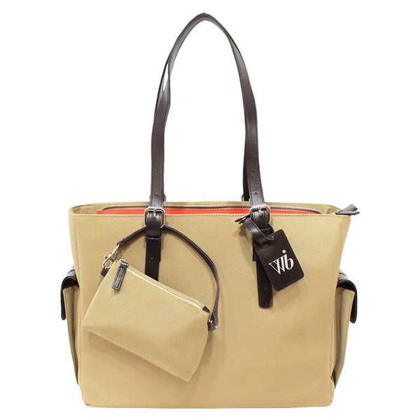Slim Liberator Tote Tan | Women in Business Laptop Bags | Branford, Connecticut