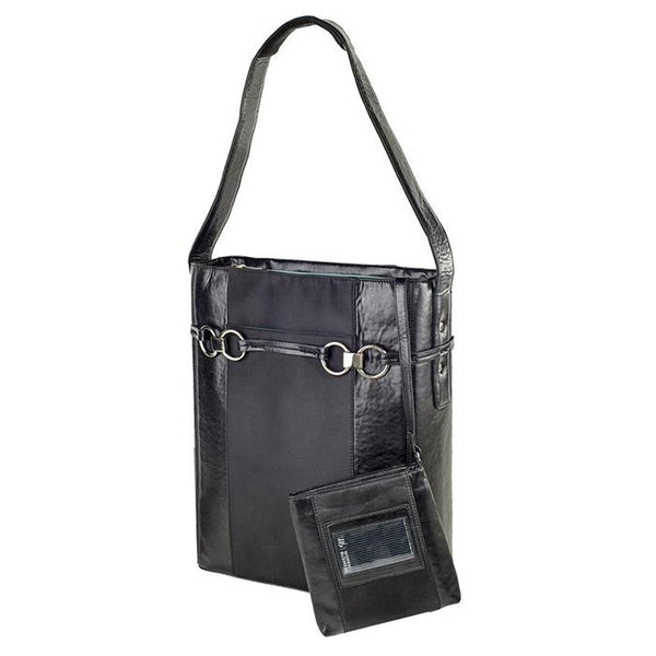 Stila Moderno Vertical Tote Black | Women in Business Laptop Bags | Branford, Connecticut