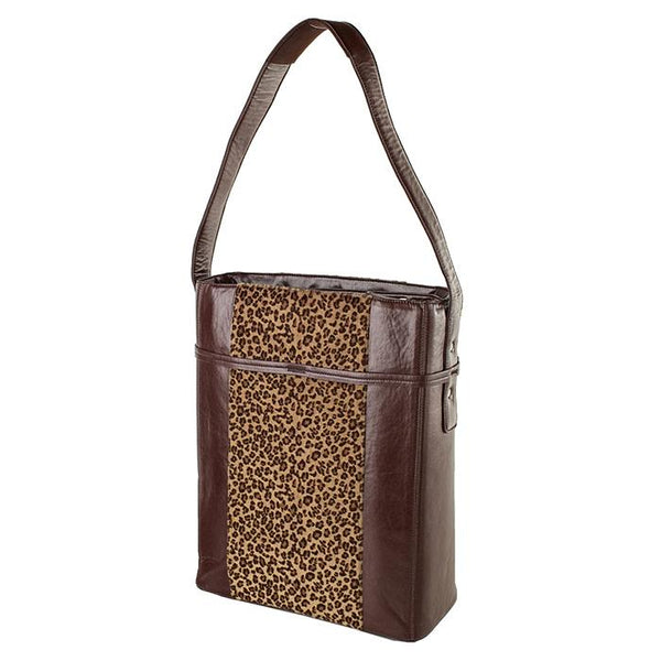 Stila Moderno Vertical Tote Leopard Brown | Women in Business Laptop Bags | Branford, Connecticut