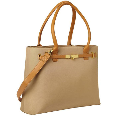 Thoroughbred Tote Tan | Women in Business Laptop Bags | Branford, Connecticut
