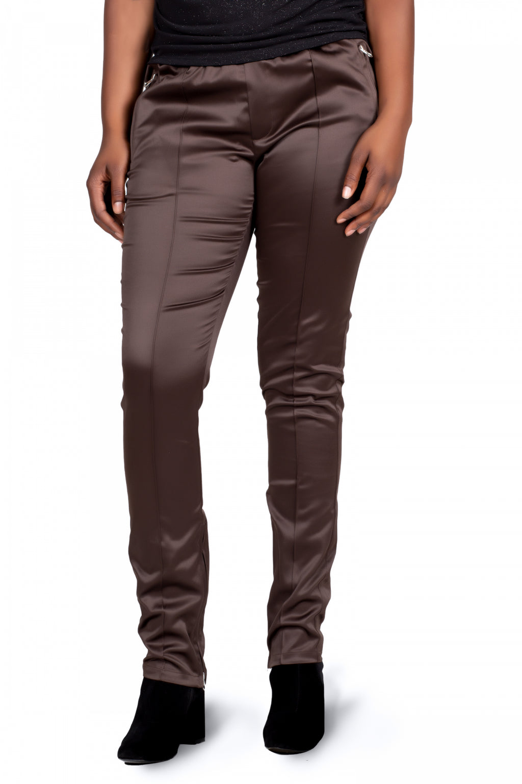 Solid And Hip  Pant (Brown)