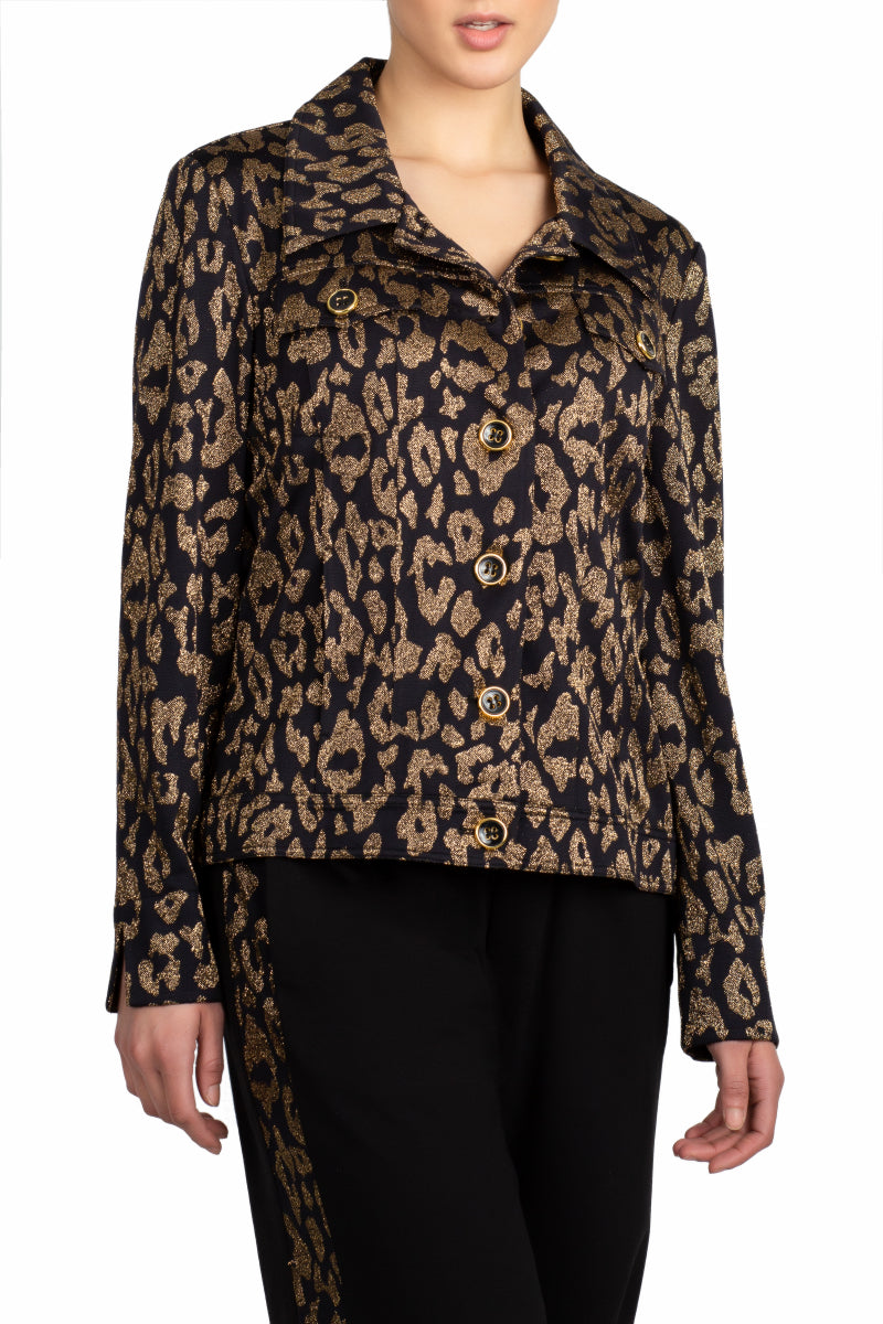 A Sparkling Leopard Jacket (Black Gold)