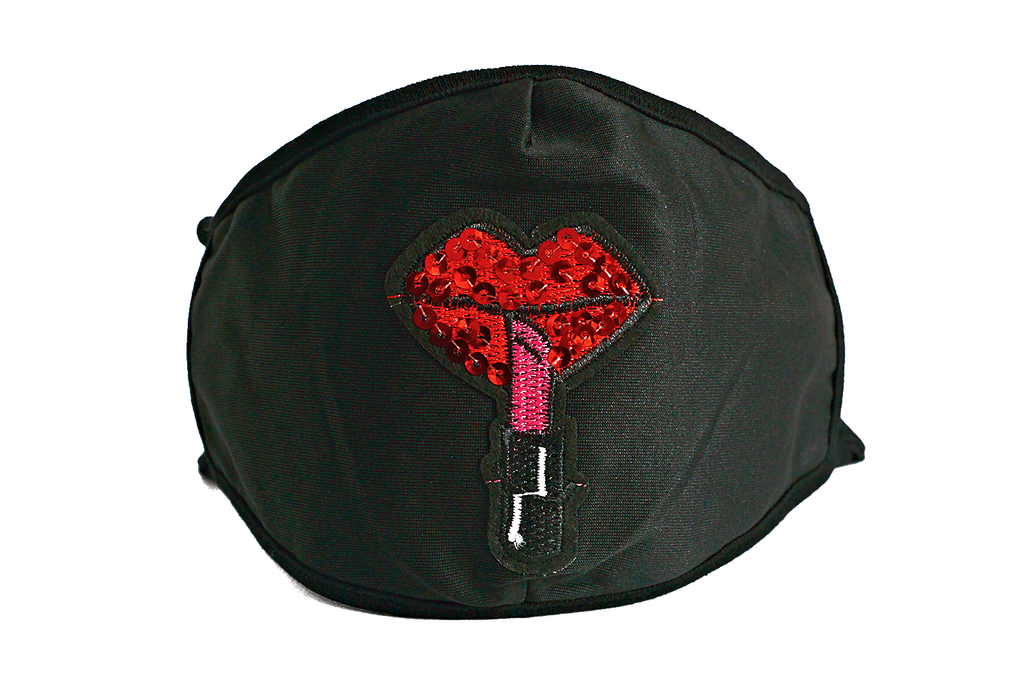 Lips and Stick Mask (Black)