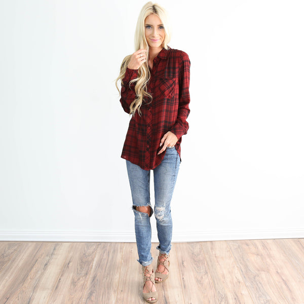 Sherwood Plaid Top