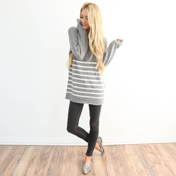 Chloe Grey Sweater