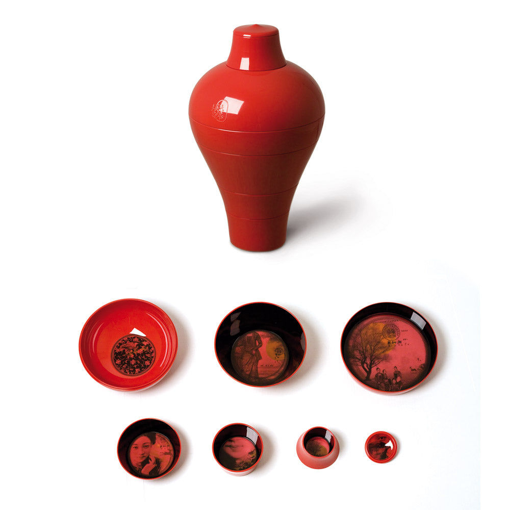 Ibride, Ming Serving Bowls, Red - In-Residence