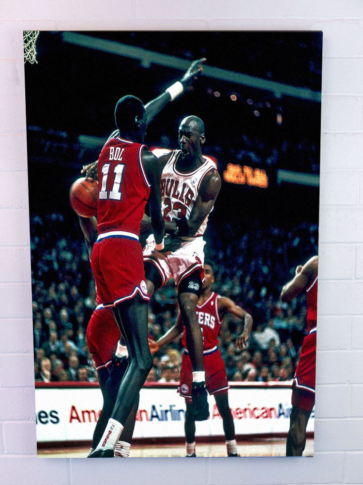 Michael vs Manute - 30x40