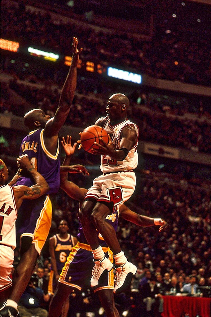 His Airness meets Shaq