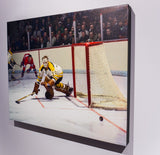Cheesy Pokes Away the Puck - 24x30