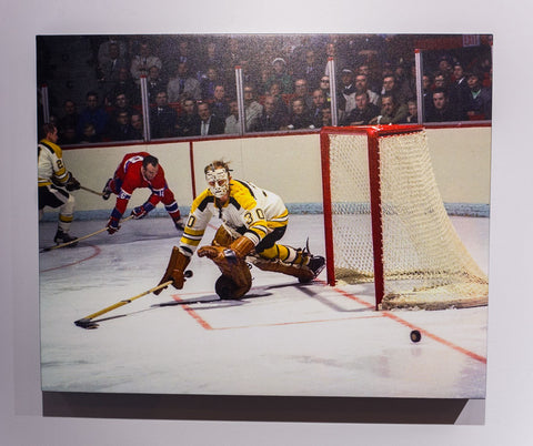 Cheesy Pokes Away the Puck - 24 x 30