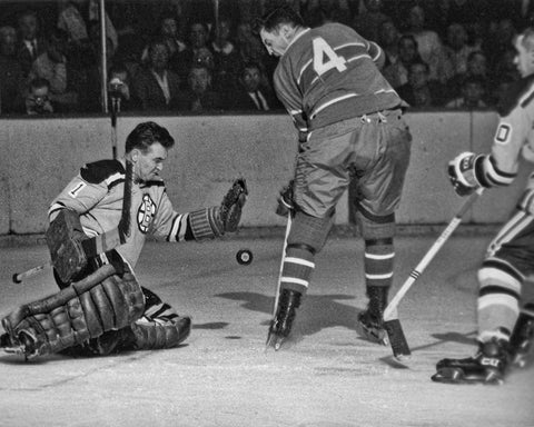 Johnston makes the save on Beliveau