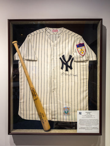 Mickey Mantle Signed and Framed Jersey