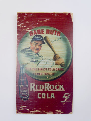 Babe Ruth Wooden Sign