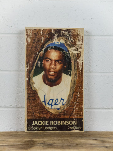 Jackie Robinson Wooden Sign