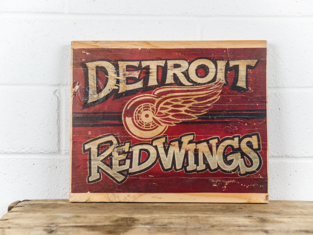 Detroit Red Wings Wooden Sign