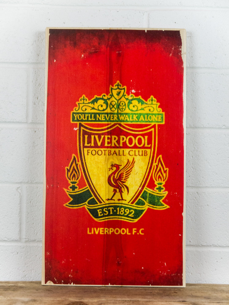 Liverpool Football Club Wooden Sign