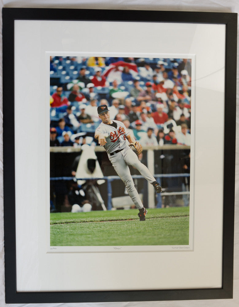 Ripken Makes the Play - Framed Print