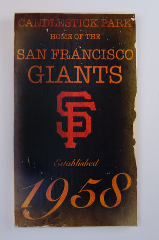 San Francisco Giants Wooden Sign