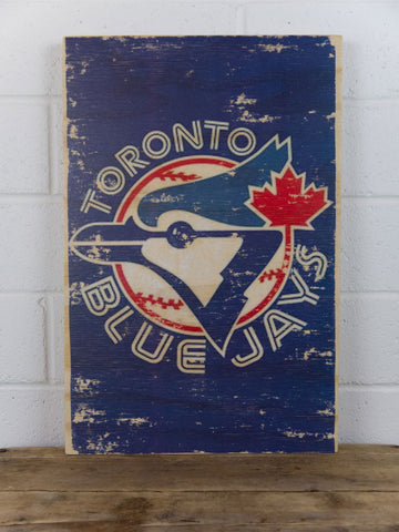 Toroton Blue Jays Wooden Sign - Large