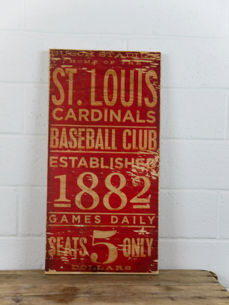 St. Louis Cardinals Wooden Sign