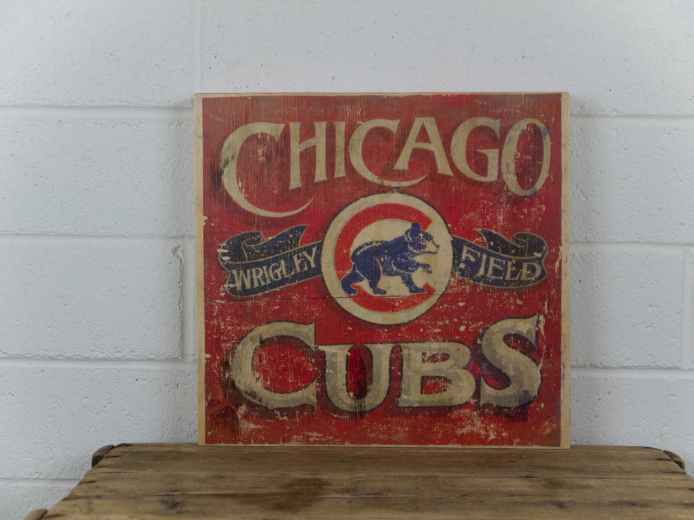 Chicago Cubs Wrigley Field Wooden Sign
