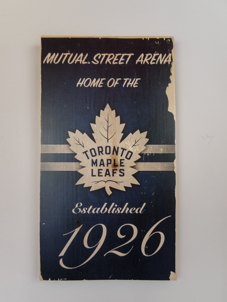 Toronto Maple Leafs Wooden Sign