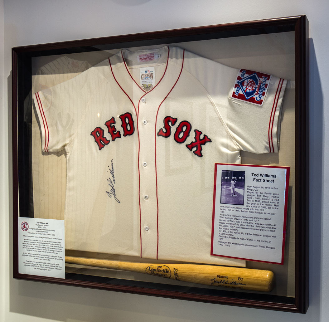 Ted Williams Signed and Framed Jersey – Vintage Sports Images