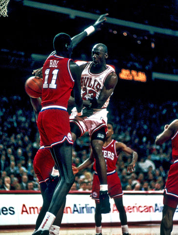 Air Jordan in flight