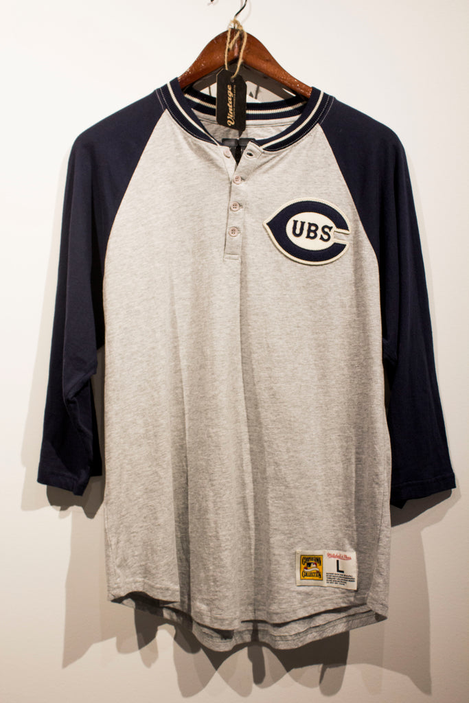 Mitchell & Ness Chicago Cubs 3/4 Sleeve