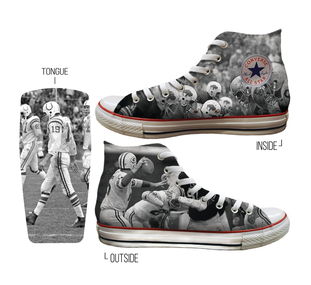 Custom Converse All-Stars:  Football Edition
