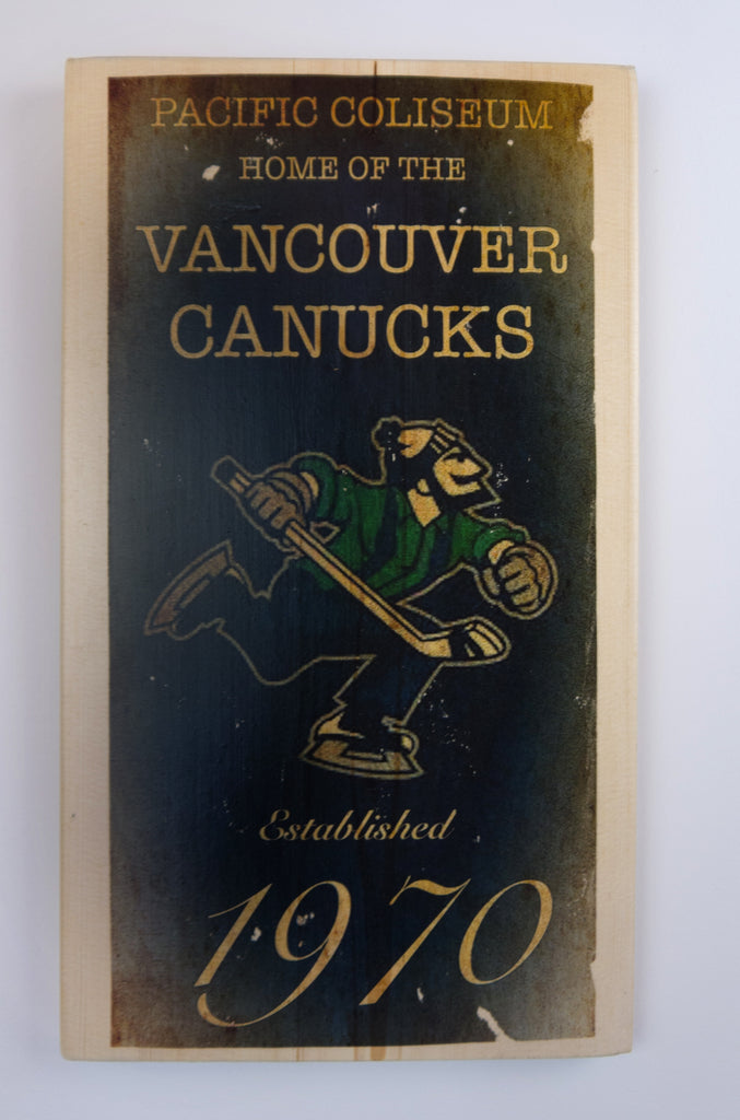 Vancouver Canucks Wooden Sign