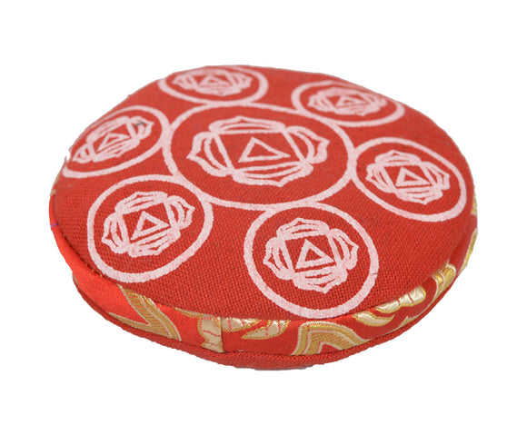 """Bermoni ROUND CUSHION FOR SINGING BOWL WITH EMBROIDERED /""""OM/"""" DESIGN"""