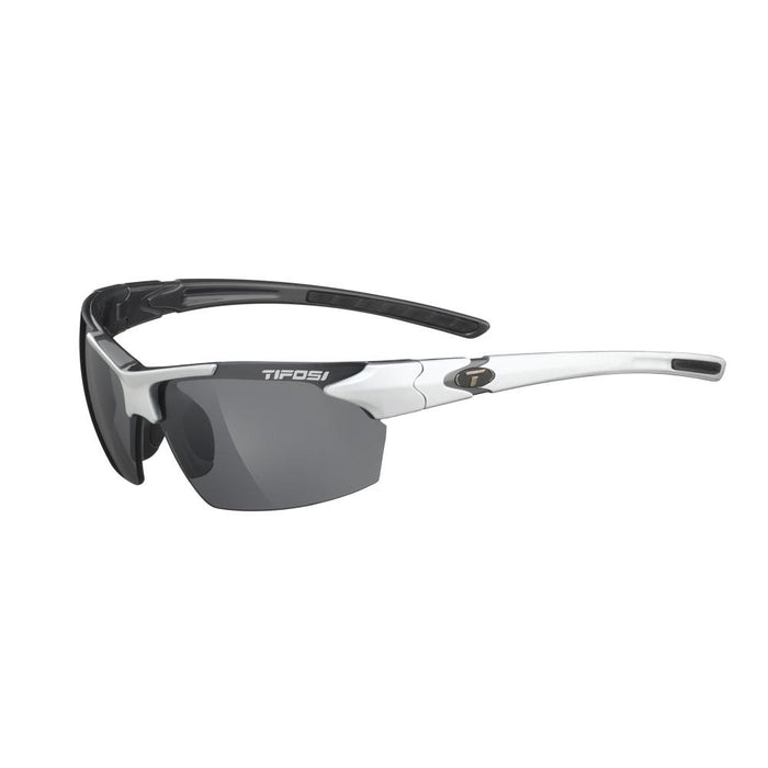 Tifosi Jet Single Lens Sunglasses - White-Gunmetal
