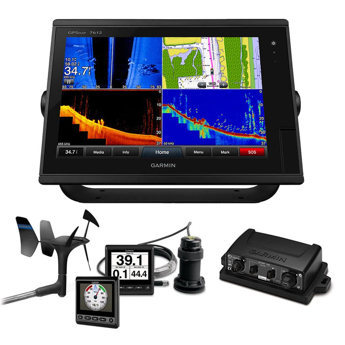 Garmin GPSMAP® 7612 Sail Plus Pack w-Wind, Depth & Speed Bundle w-GNX™20