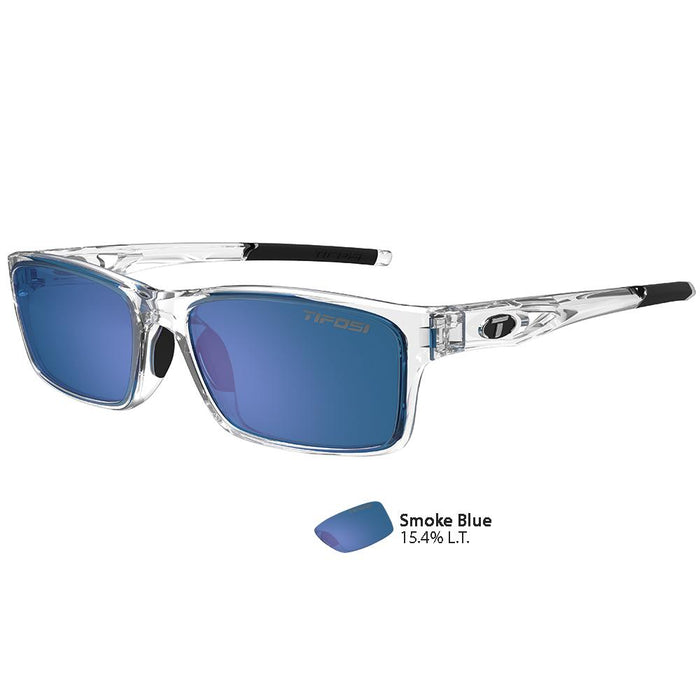 Tifosi Watkins Crystal Clear Swivelink Sunglasses - Smoke Blue