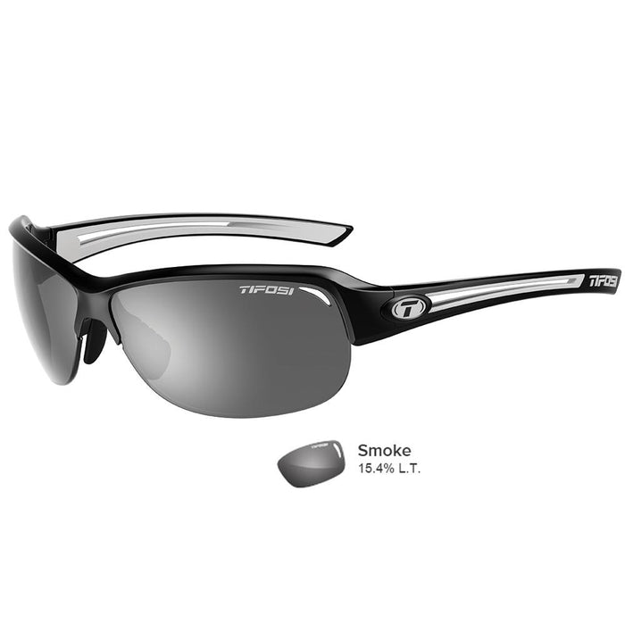 Tifosi Mira Black-White Single Lens Sunglasses - Smoke