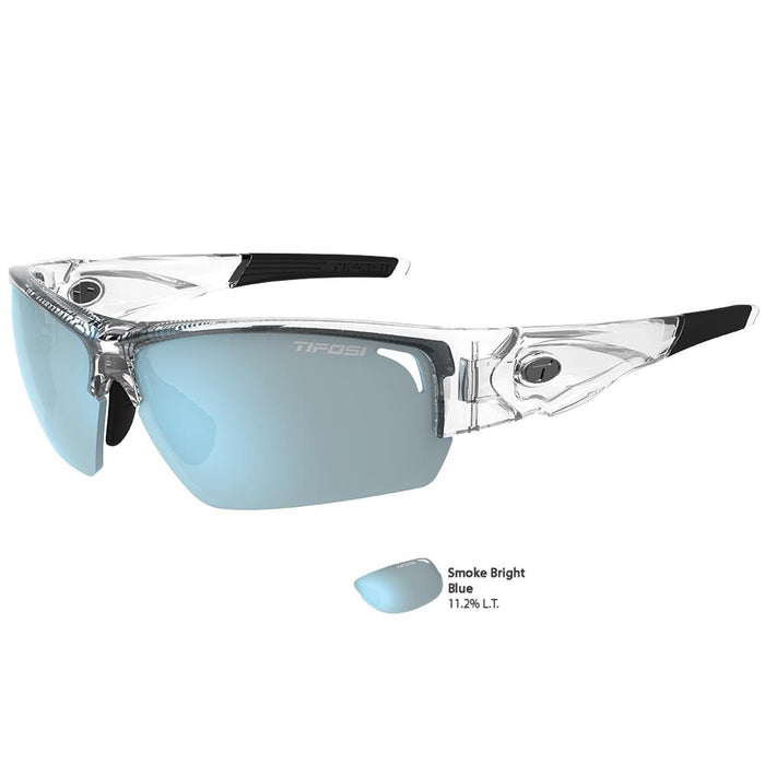 Tifosi Lore SL Crystal Clear Single Lens Sunglasses - Smoke Bright Blue