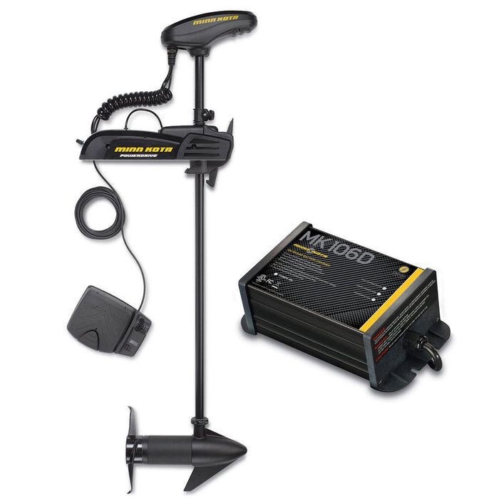 "Minn Kota Powerdrive 55_BT - 12v-55lb-54"" w- Free MK-106D On-Board Charger"