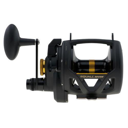 "Squall Lever Drag 2 Speed Conventional Reel - 4.2:1-1.8:1 Gear Ratio, 41""-18"" Line Retrieve, 32 lb Max Drag, Right Hand"