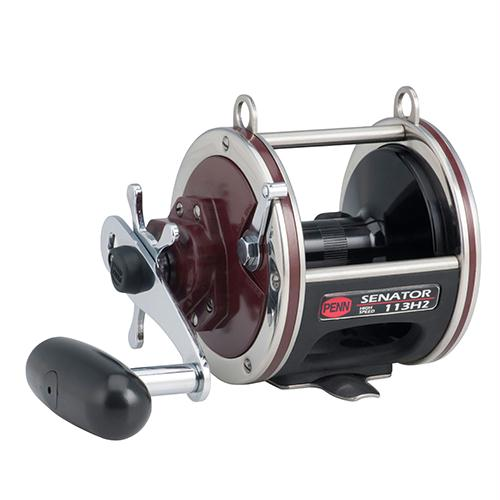 "Senator Star Drag Conventional Reel - 113, 3.3:1 Gear Ratio, 26"" Retrieve Rate, 20 lb Max Drag, 2 Bearings, Right Hand"
