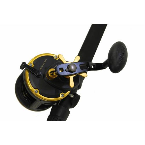 "Squall Level Wind Conventional Combo - 30, 4.9:1 Gear Ratio, 6'6"" Length 1pc Rod, 20-50 lb Max Drag, Medium-Heavy Power"